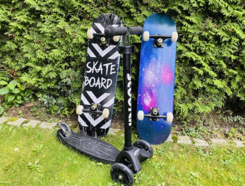 Unboxing Skateboard und Scooter